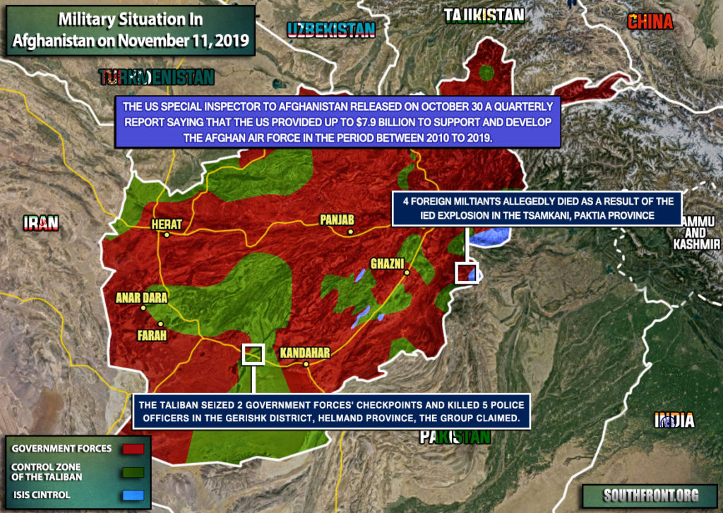 Military Situation In Afghanistan On November 11, 2019 (Map Update)