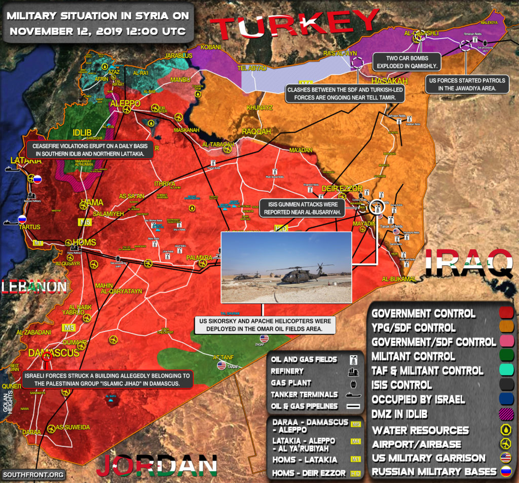 Military Situation In Syria On November 12, 2019 (Map Update)