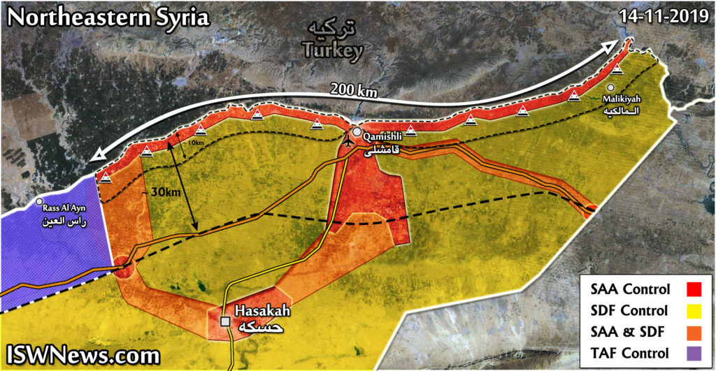 Map Update: Syrian Army Fortifying Its Positions In Northeastern Syria
