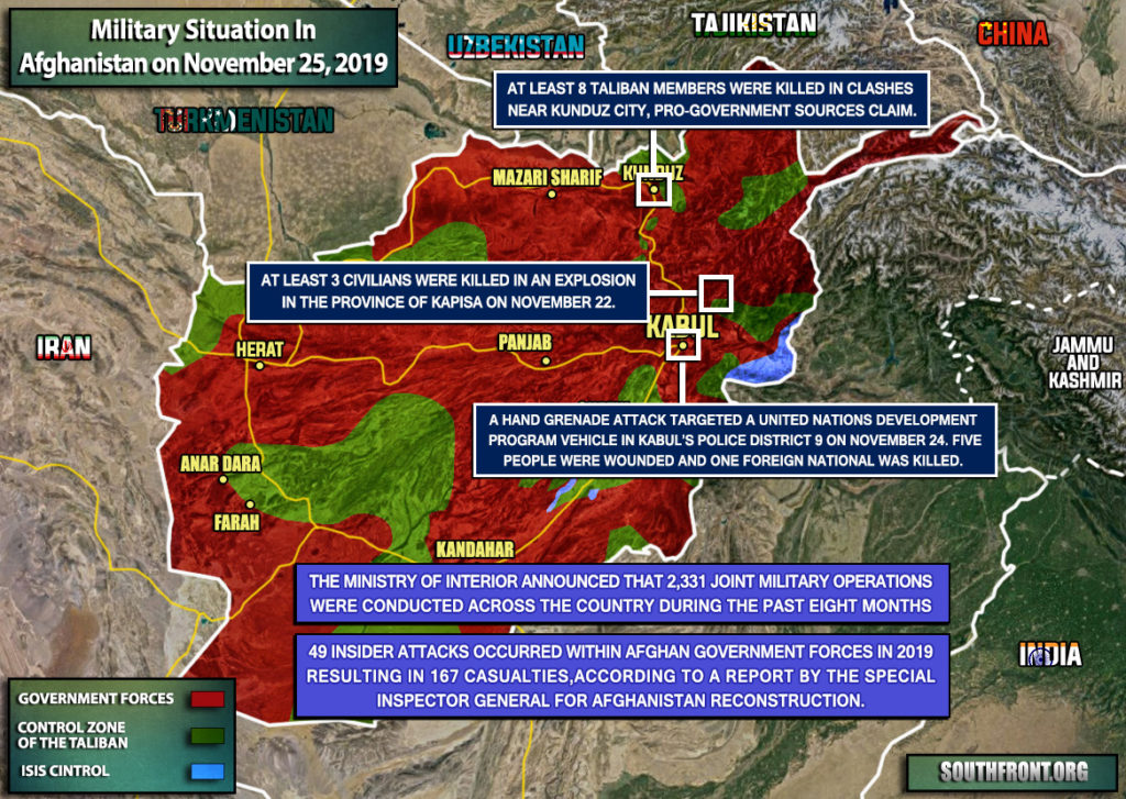 Military Situation In Afghanistan On November 25, 2019 (Map Update)