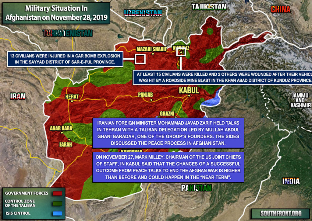 Military Situation In Afghanistan On November 28, 2019 (Map Update)