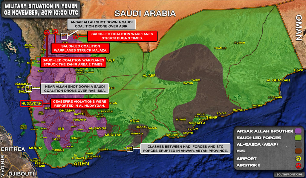 Military Situation In Yemen On November 2, 2019 (Map Update)