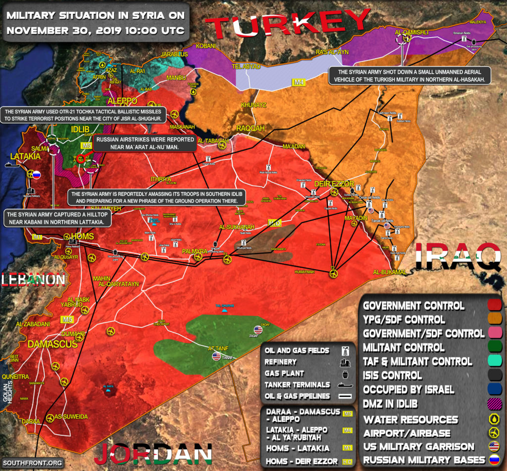 Military Situation In Syria On November 30, 2019 (Map Update)