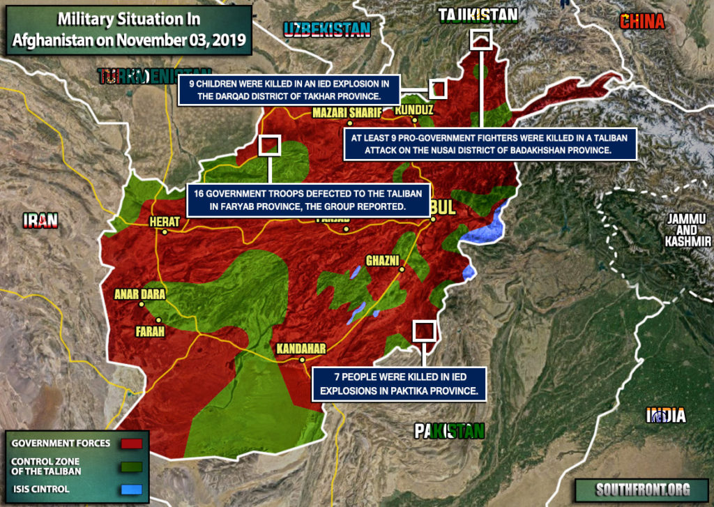 Military Situation In Afghanistan On November 3, 2019 (Map Update)