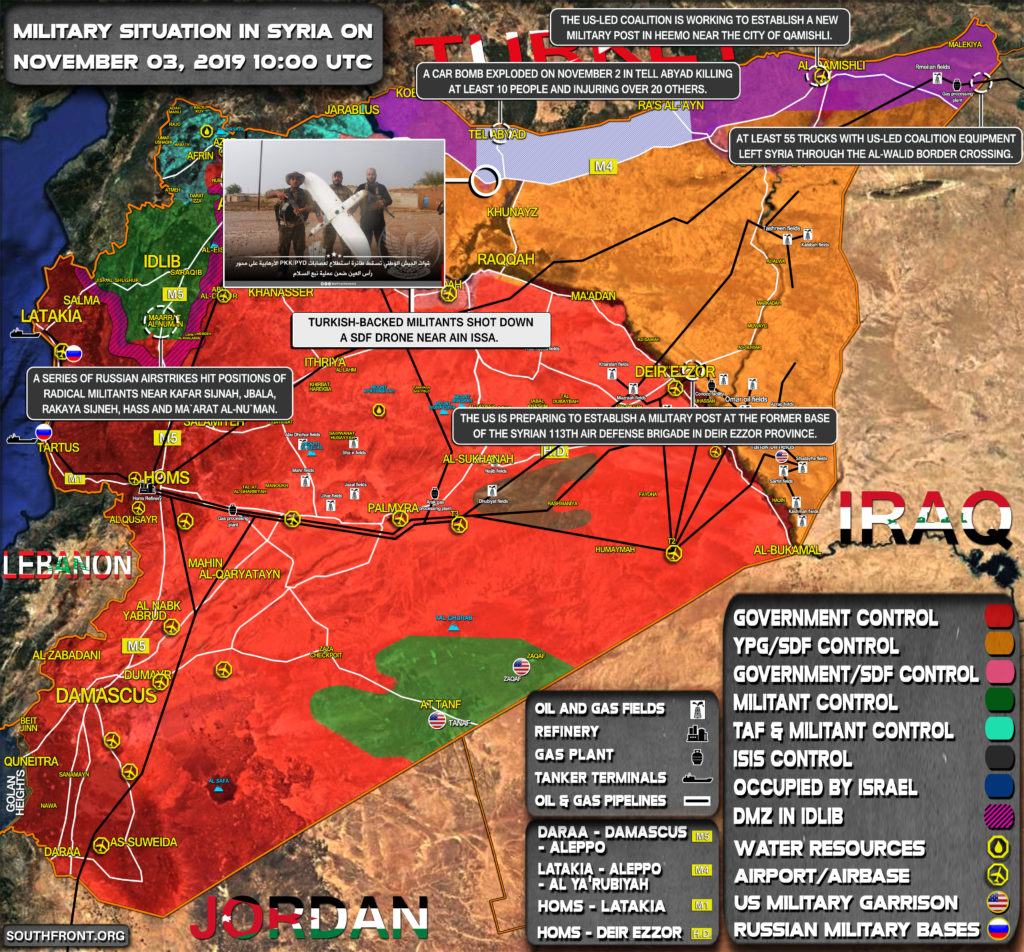 Military Situation In Syria On November 3, 2019 (Map Update)