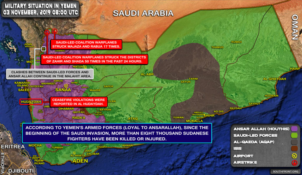 Military Situation In Yemen On November 3, 2019 (Map Update)
