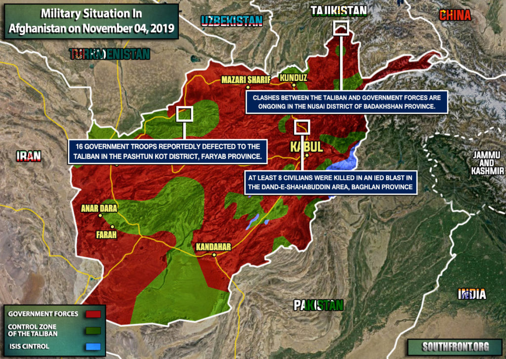 Military Situation In Afghanistan On November 4, 2019 (Map Update)