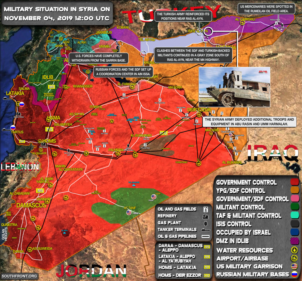 Military Situation In Syria On November 4, 2019 (Map Update)