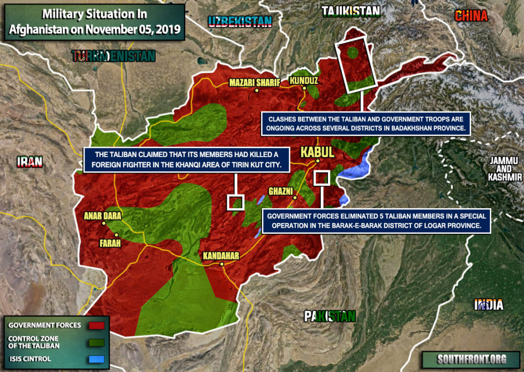 Military Situation In Afghanistan On November 5, 2019 (Map Update)