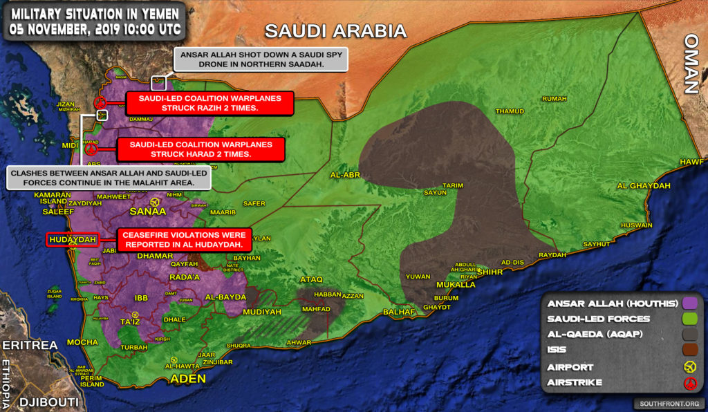 Military Situation In Yemen On November 5, 2019 (Map Update)