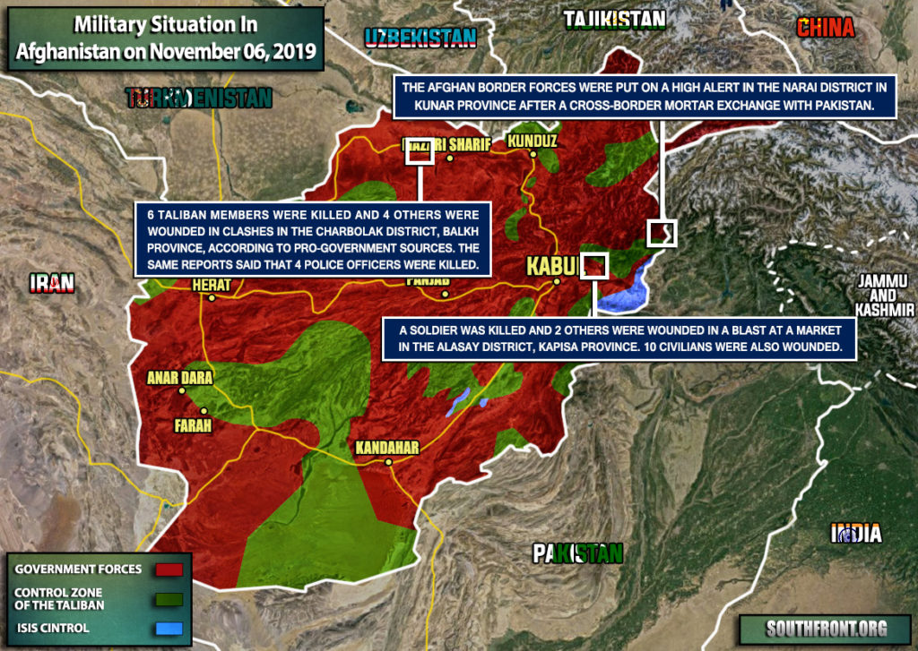 Military Situation In Afghanistan On November 6, 2019 (Map Update)