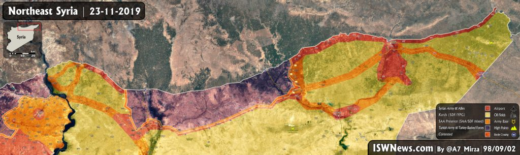 Map Update: Military Situation In Northeastern Syria