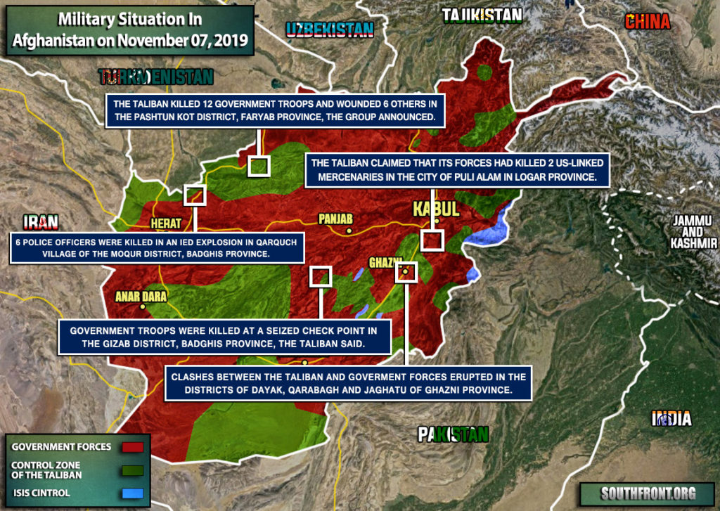 Military Situation In Afghanistan On November 7, 2019 (Map Update)