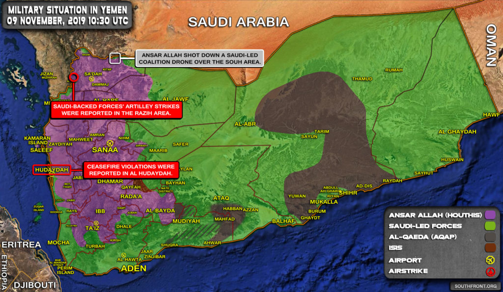 Military Situation In Yemen On November 9, 2019 (Map Update)