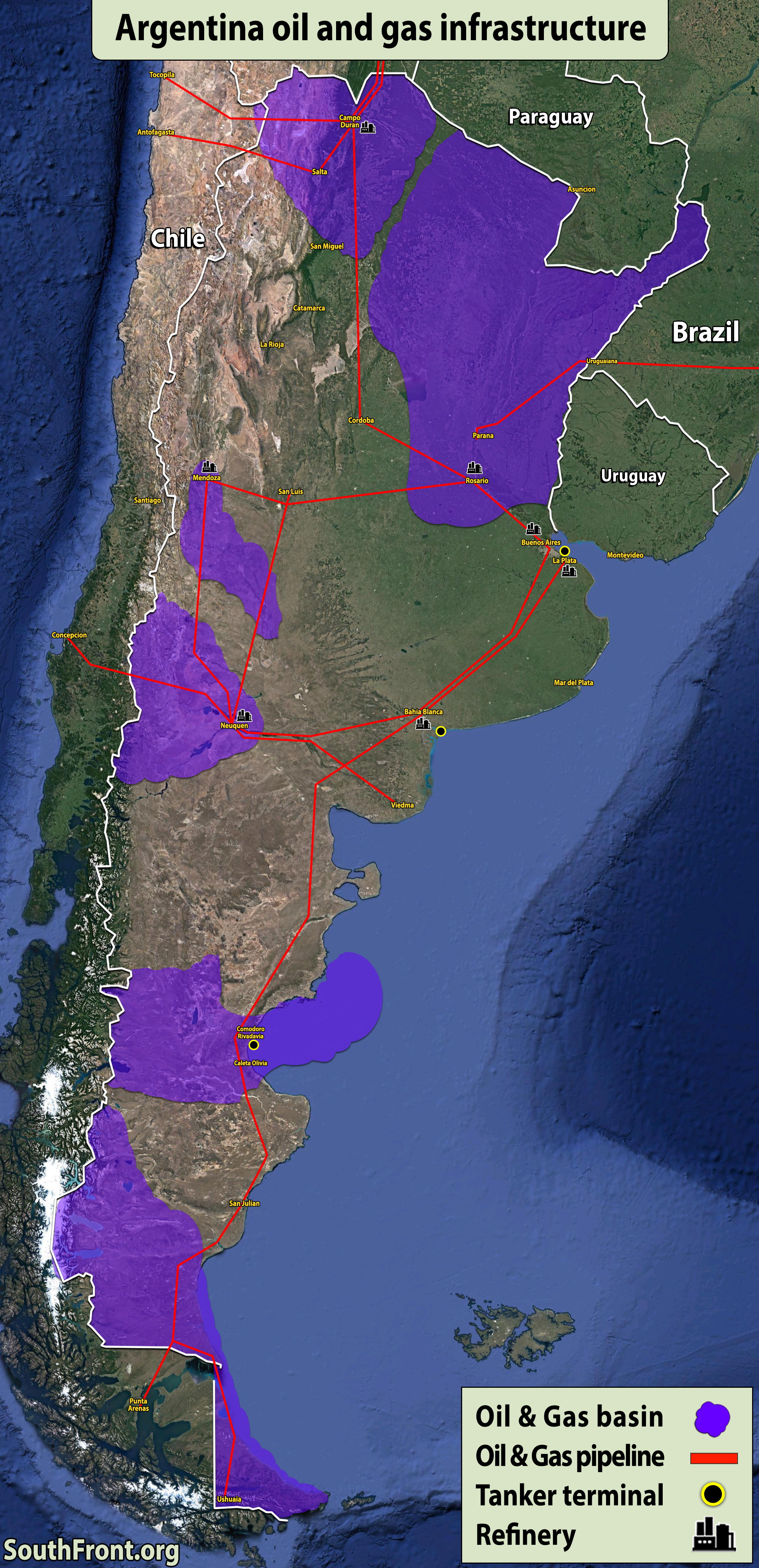 Argentina Oil And Gas Infrastructure (Map Update)