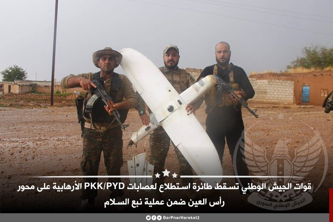 Turkish-Backed Militants Shoot Down SDF Drone In Northern Raqqa (Photos)