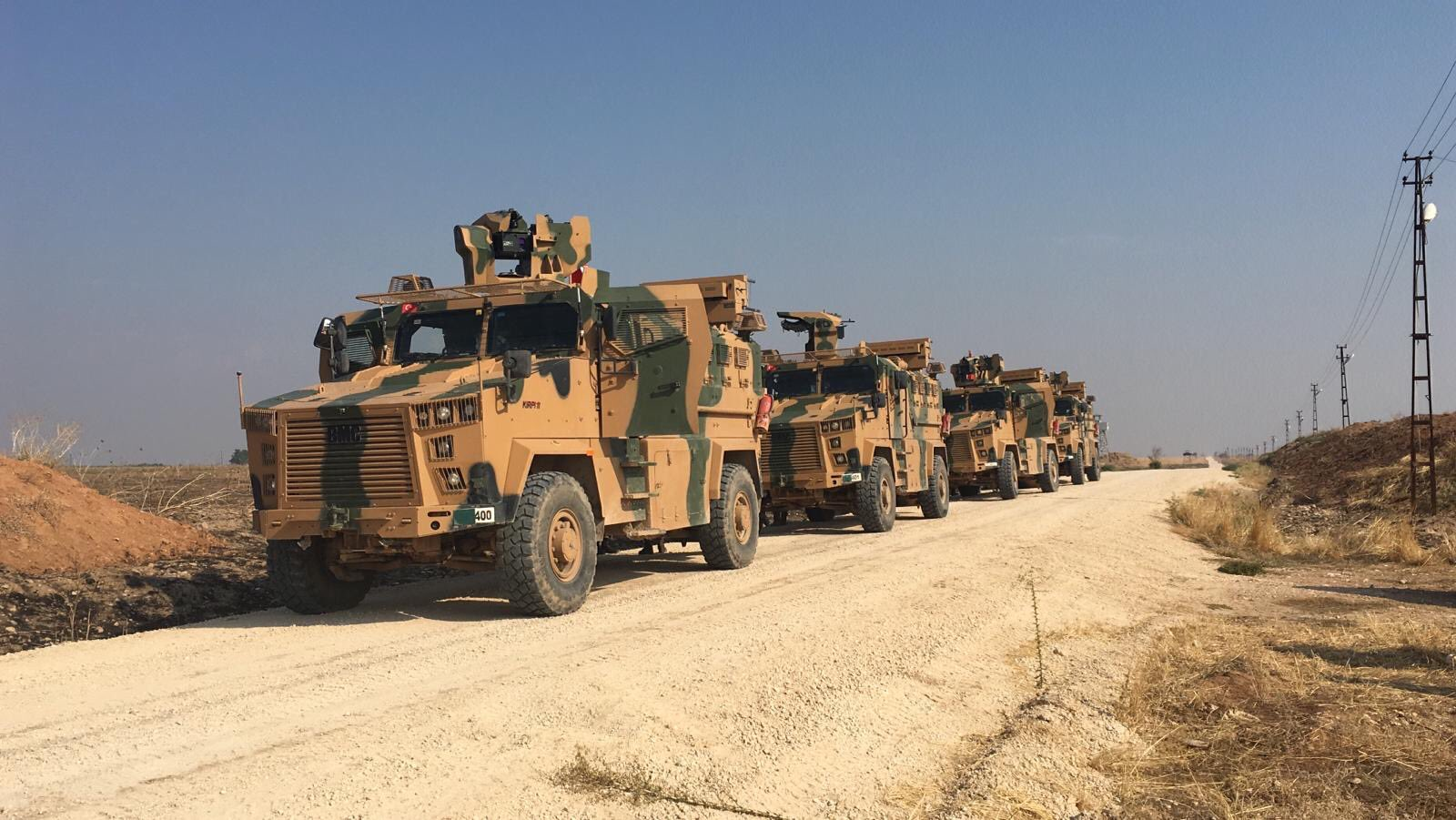 Turkish, Russian Forces Conduct First Joint Patrol In Northeast Syria (Photos)