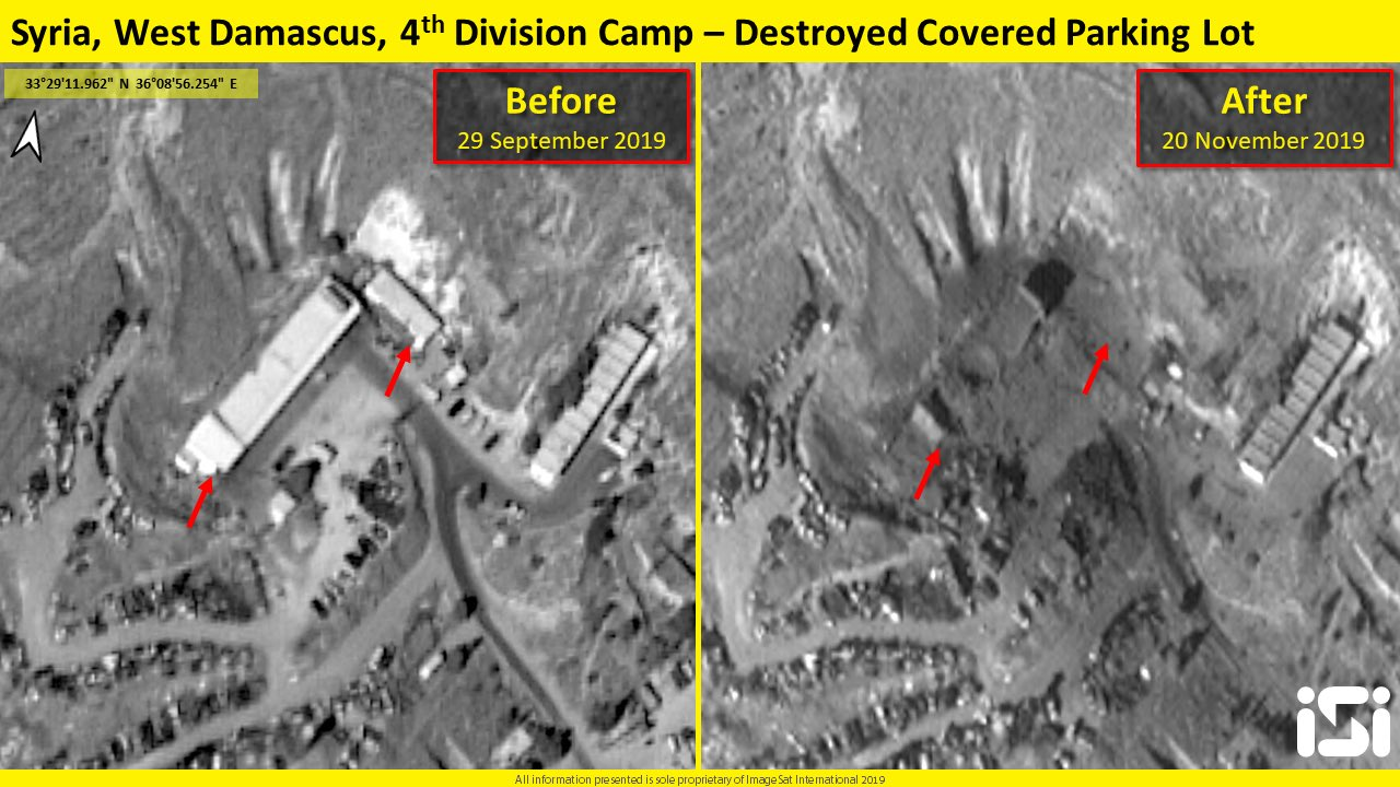 Satellite Image: Israel Targeted 4th Division Military Camp During Recent Attack On Syria