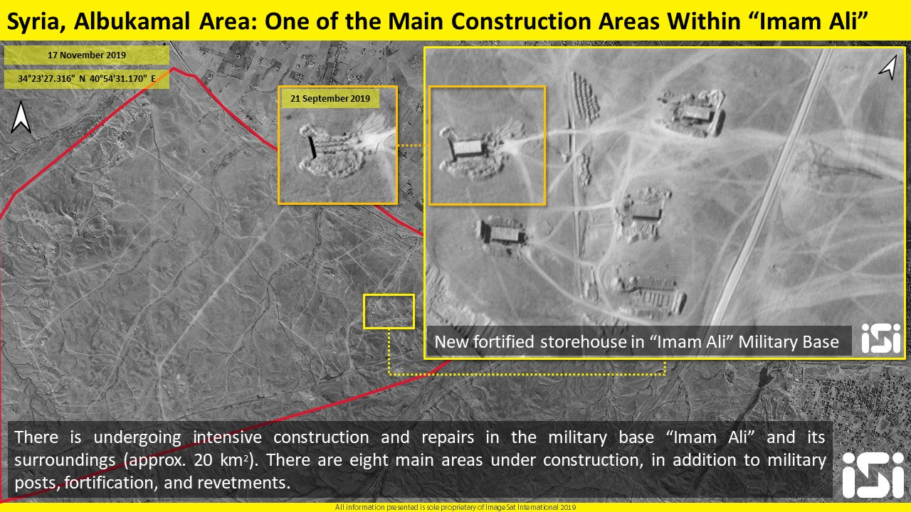 Satellite Images Show Intensive Constriction At Alleged Iranian Base On Syrian-Iraqi Border