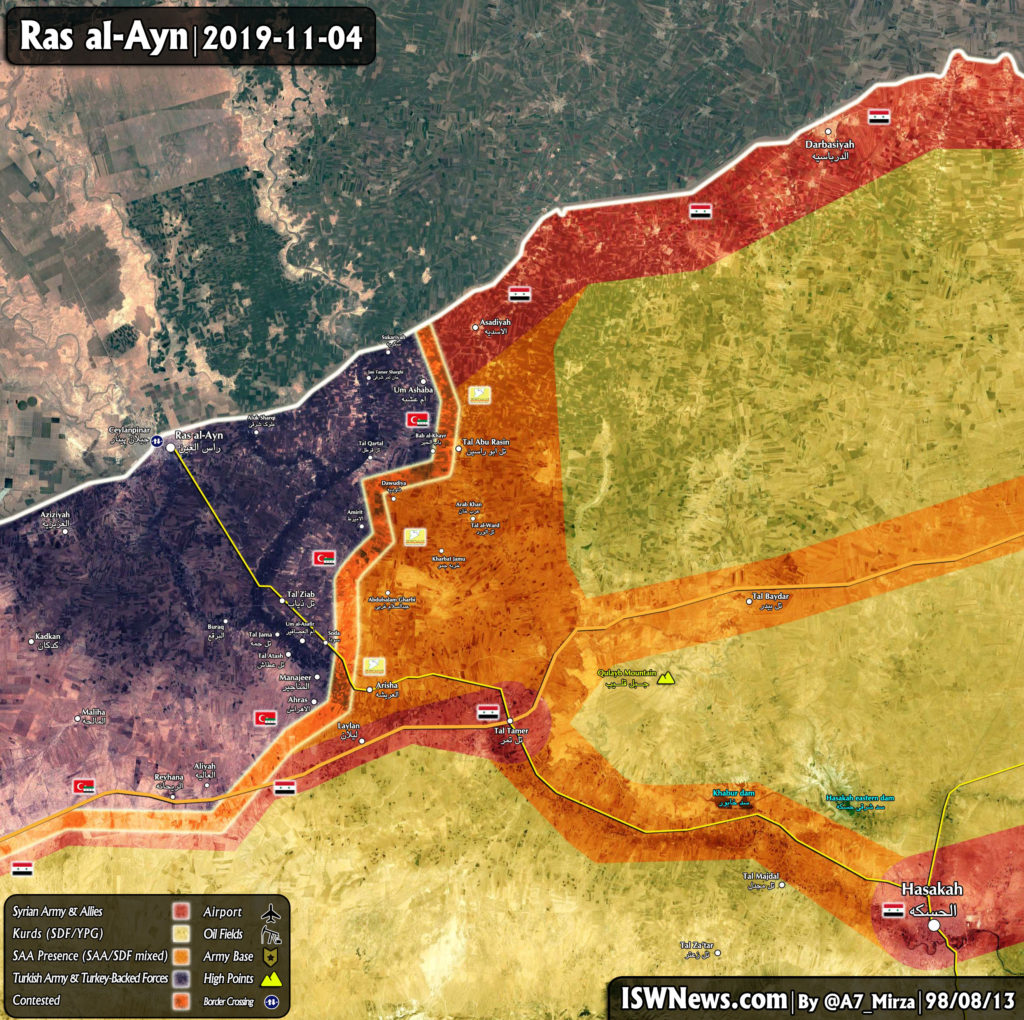 Map Update: Military Situation In Ras Al-Ayn Area In Northeastern Syria