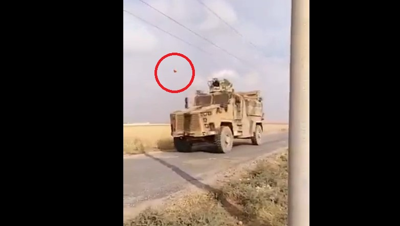 In Video: Locals Throw Rotten Tomatoes At Turkish Vehicles In Northeastern Syria