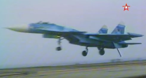 Russia Releases Video Of Historic First Landing of Su-27K On Admiral Kuznetsov's Deck