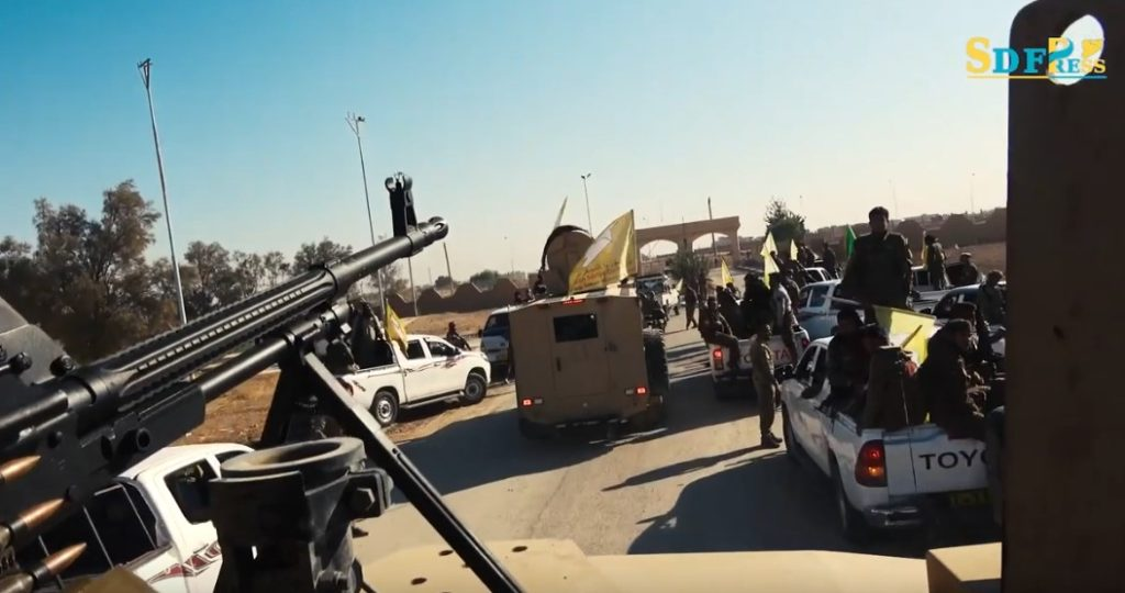 Syrian Democratic Forces Hold Military Parade In Tabqah (Video)