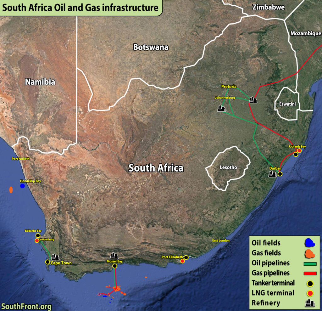 South Africa Oil And Gas Infrastructure (Map Update)