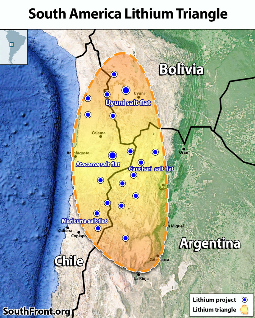 South America Lithium Triangle (Map Update)
