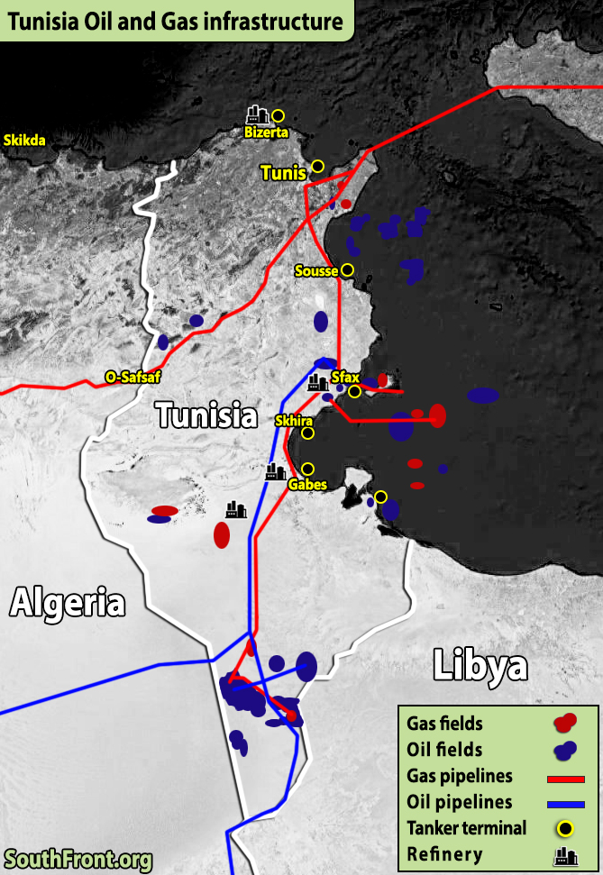 Tunisia Oil And Gas Infrastructure (Map Update)