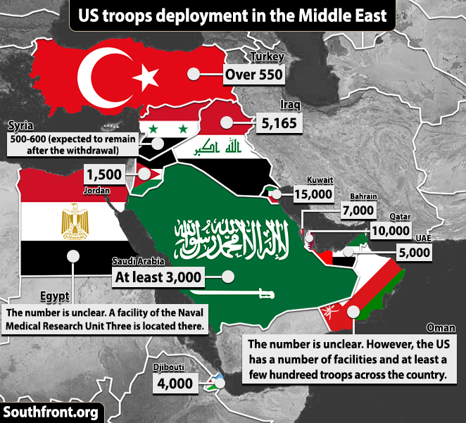 Map Update: Us Troops\' Deplyoment In The Middle East