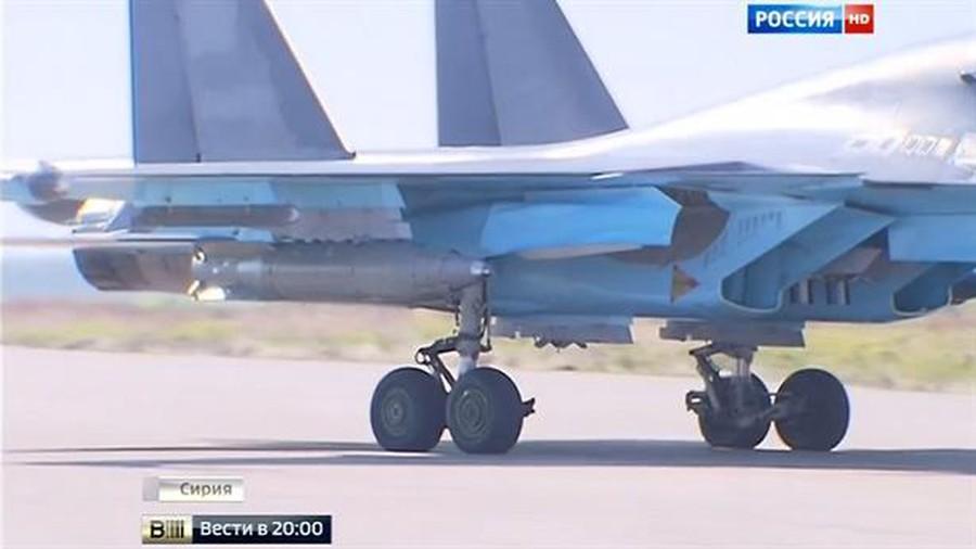 In Video: Russian Su-34 Drops 1,5 Ton Guided Bomb On Terrorist Position In Syria's Idlib