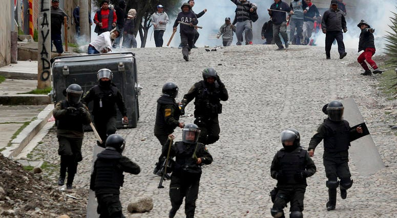 Civil War Onset In Bolivia, In Wake of Political Vacuum Following Successful Coup