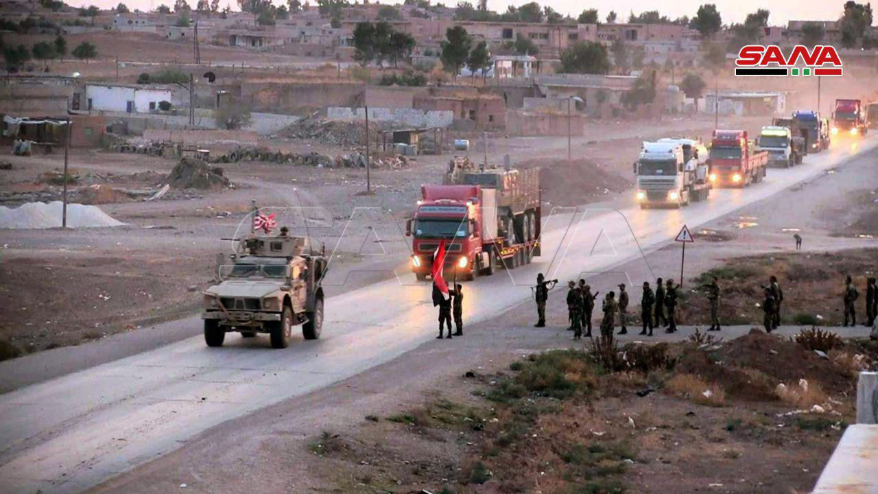 Dozens Of Trucks Loaded With U.S. Military Equipment Withdraw From Syria (Video, Photos)