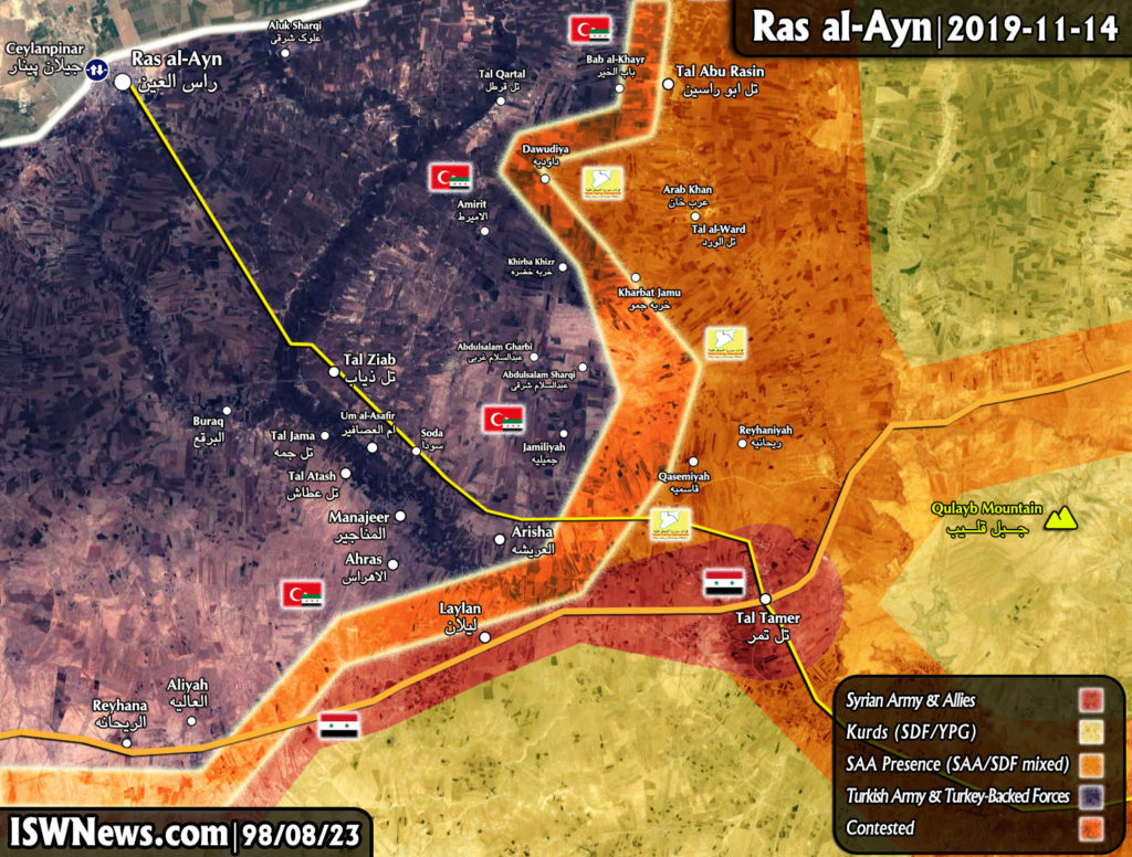 Map Update: Close Look At Military Situation Around Syria's Ras al-Ayn