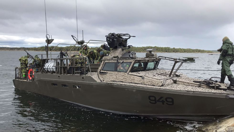 SAAB Delivers Its First New CB90 HSM Assault Boat to Swedish Navy