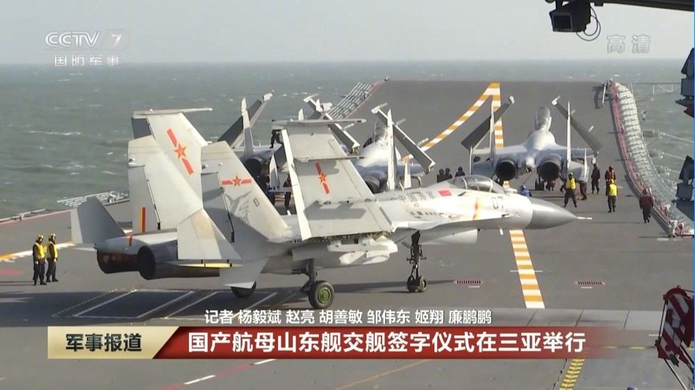 In Video: China's First Domestically-Built Aircraft Carrier In Sea