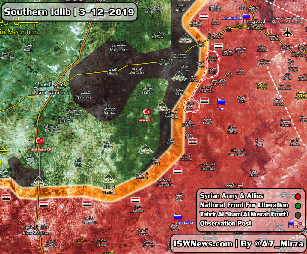 Map Update: Government Forces Prepare For Further Push Into Southern Idlib