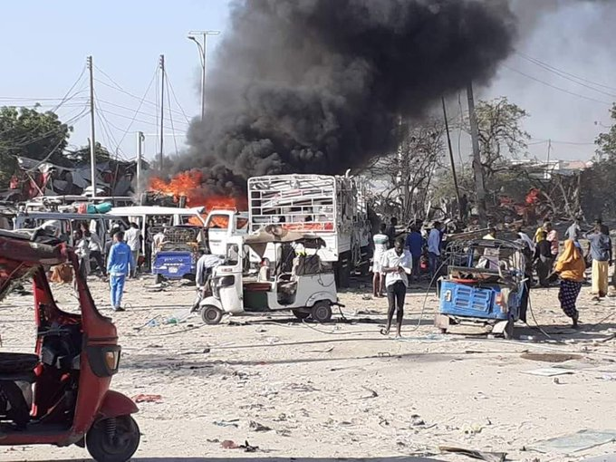 Dozens Killed In Car Bomb Explosion In Somalia's Mogadishu