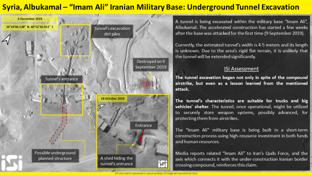 Satellite Images Allgedly Show Iranian Undeground Infrastructure For Missiles In Syria's Al-Bukamal