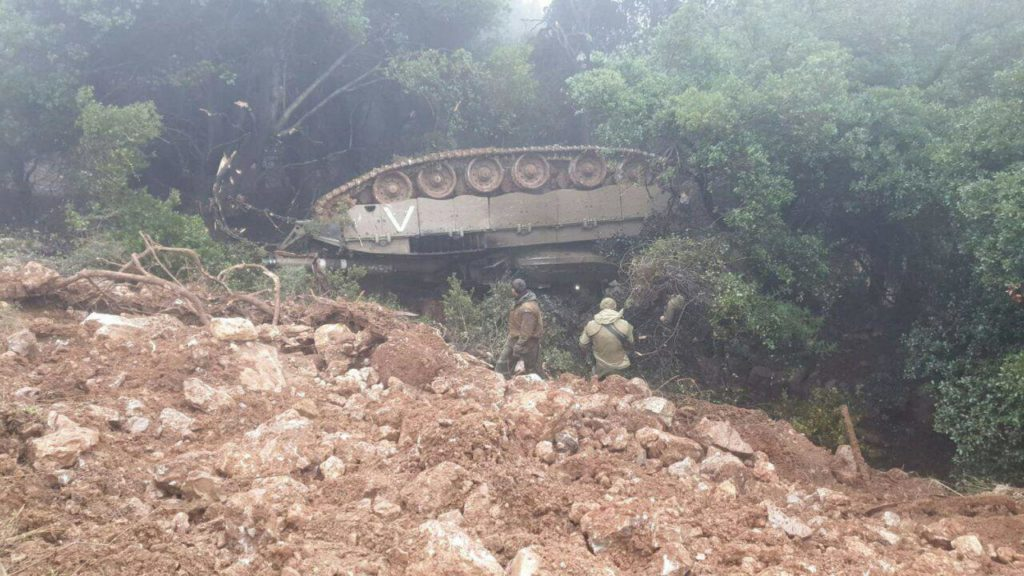 Israeli Merkava 4 Battle Tank Flipped Over During Drills Near Contact Line With Lebanon