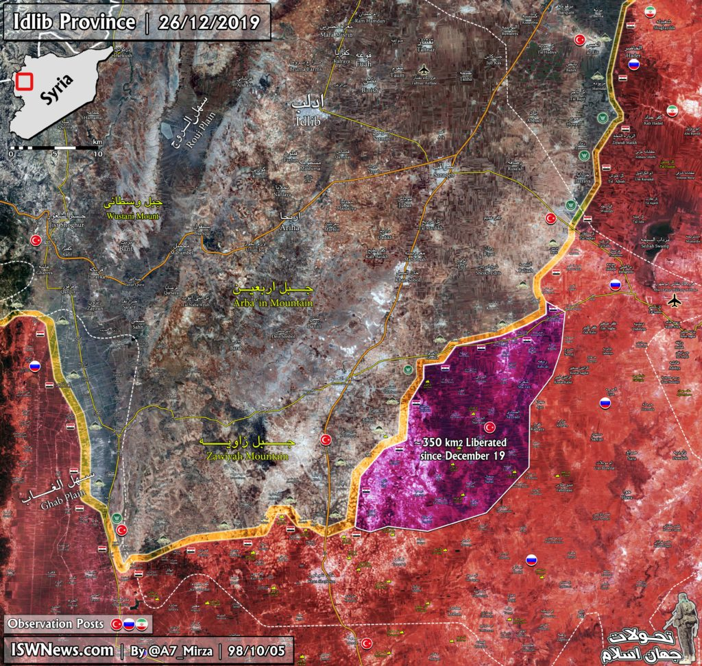 Syrian Army Liberated 350km2 Since Start Of Operation In Southern Idlib (Map Update)