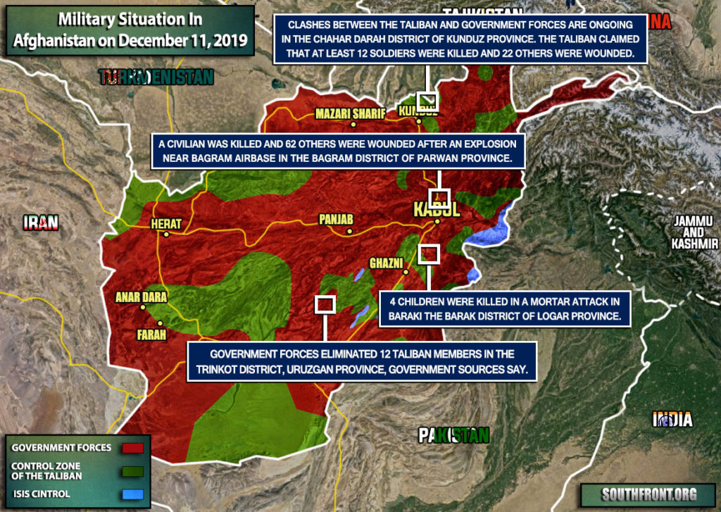 Military Situation In Afghanistan On December 11, 2019 (Map Update)