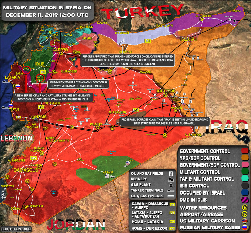 Military Situation In Syria On December 11, 2019 (Map Update)