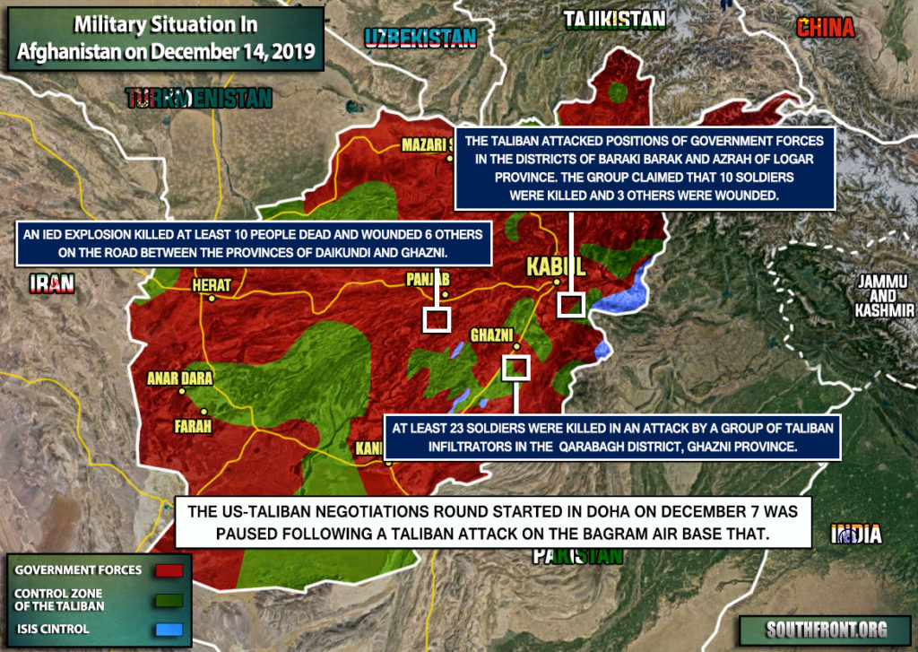Military Situation In Afghanistan On December 14, 2019 (Map Update)