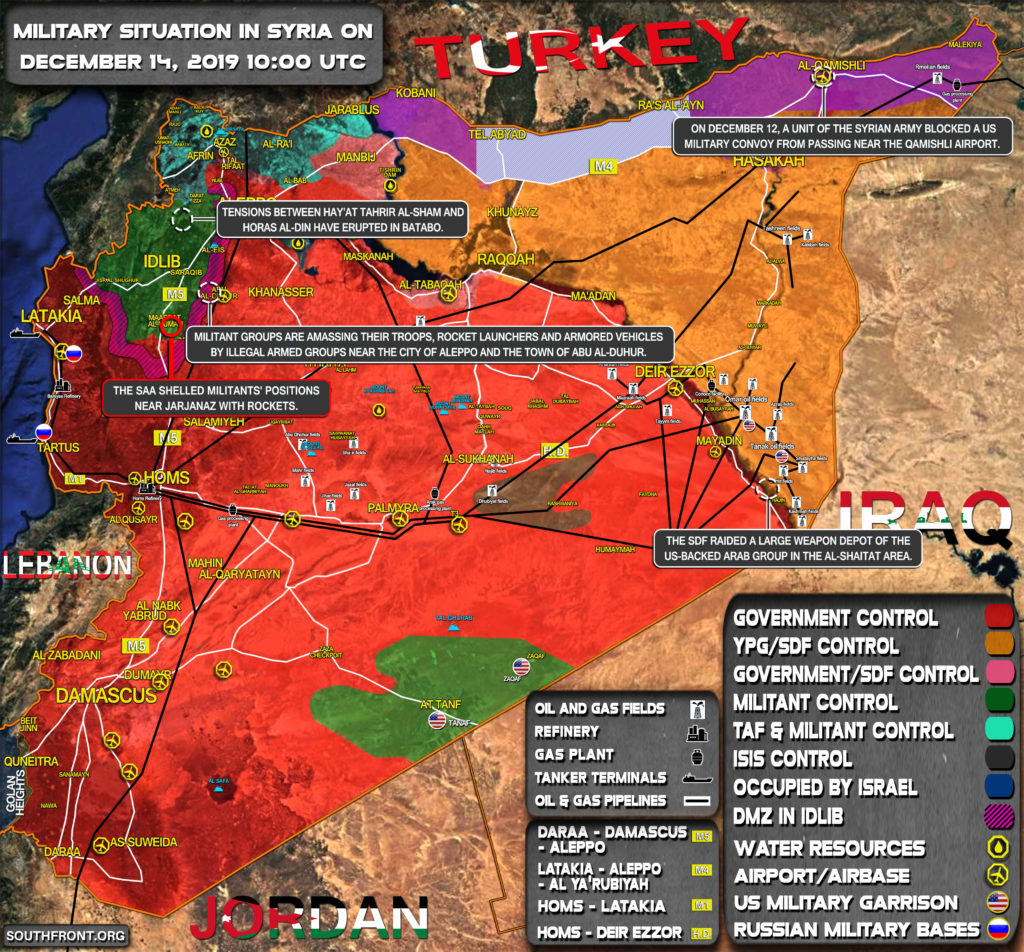 Military Situation In Syria On December 14, 2019 (Map Update)