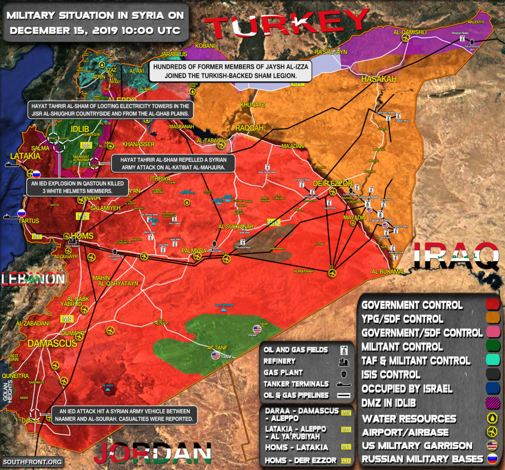 Military Situation In Syria On December 15, 2019 (Map Update)