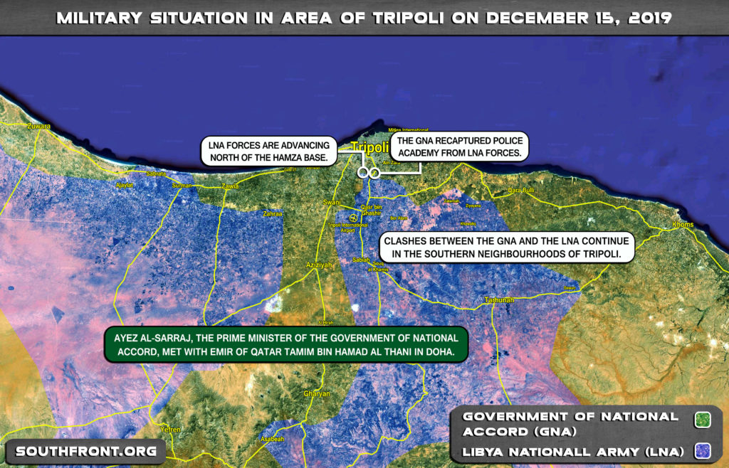 Military Situation Around Libya's Tripoli On December 15, 2019 (Map Update)