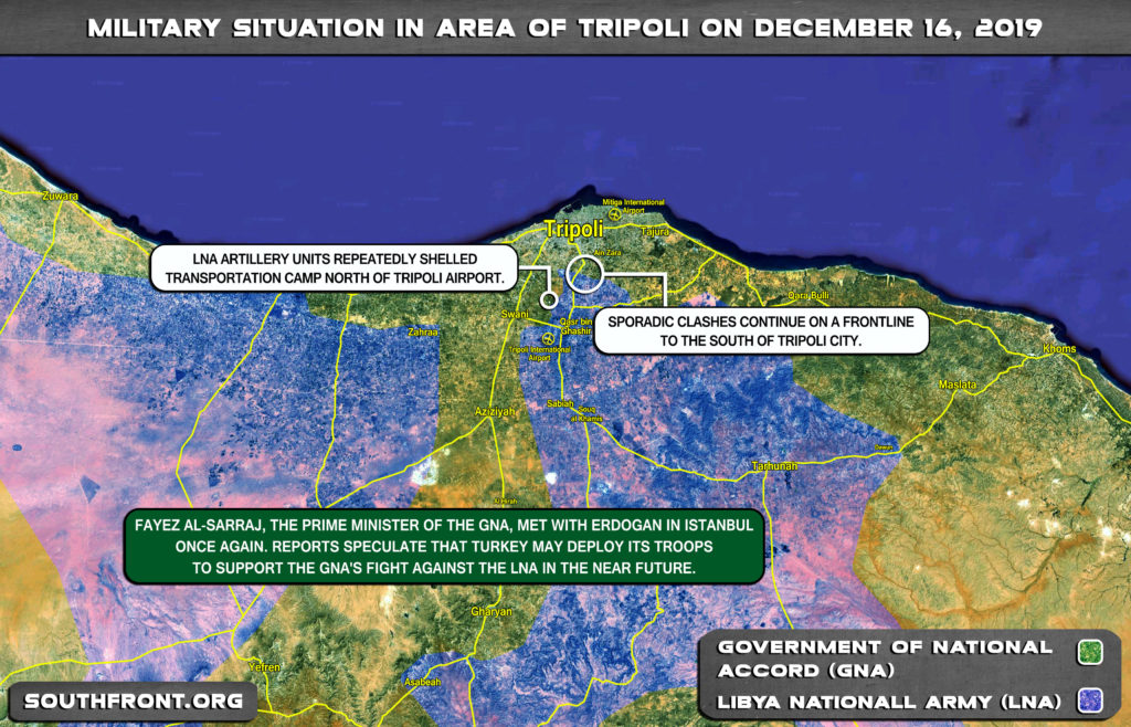 Military Situation Around Libya's Tripoli On December 16, 2019 (Map Update)