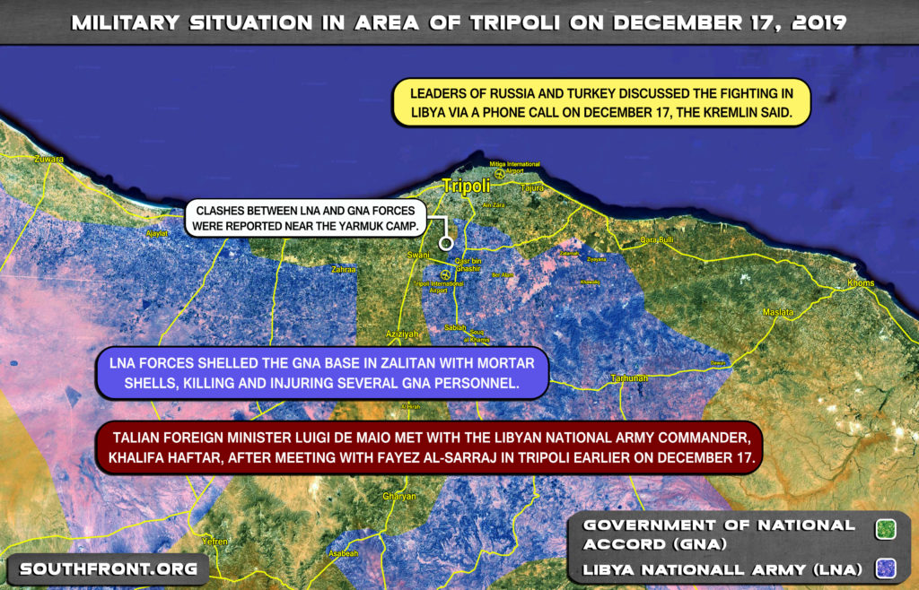 Military Situation Around Libya's Tripoli On December 17, 2019 (Map Update)